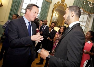 Rt Hon David Cameron and Anthony Okereafor